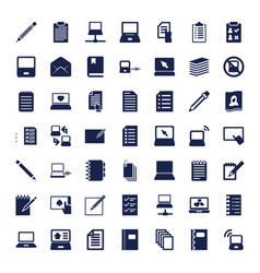 49 notebook icons vector