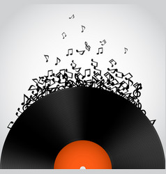 abstract music background vinyl disk vector image