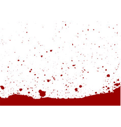 abstract paint splatter red color isolated vector image