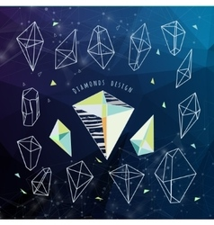 Abstract polygonal backgroun Low poly crystal vector