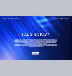 Abstract website landing page design vector