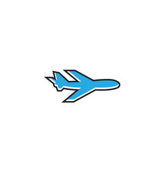 Aero plane graphic template vector