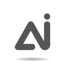 Ai logo letter template design vector