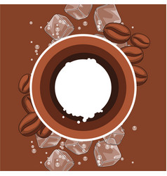 Background with coffee beans vector