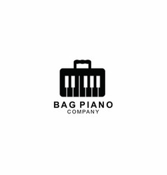 Bag and piano logo template design symbol vector