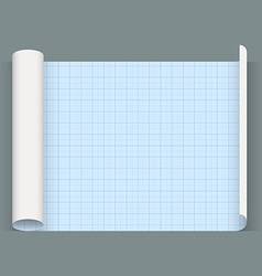 Big sheet of a squared paper Whatman paper vector