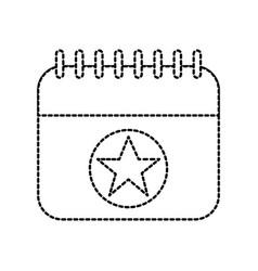 birthday calendar planning party celebration vector image