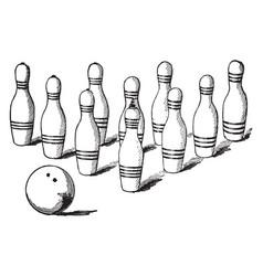Bowling vintage vector
