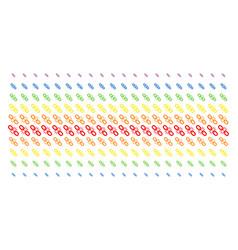 Break chain link shape halftone spectrum grid vector