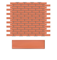 Bricks wall 3d vector