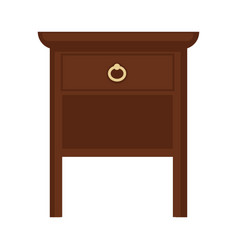 Brown wooden furniture vector