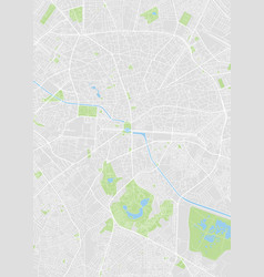 Bucharest colored map vector