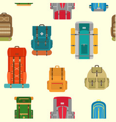 camping backpack9 vector image