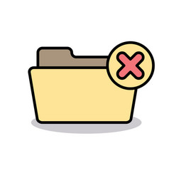 Cancel close delete exit folder logout remove icon vector