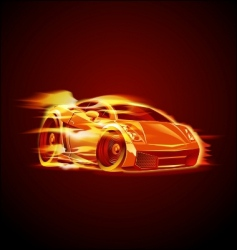 Cartoon sport car vector