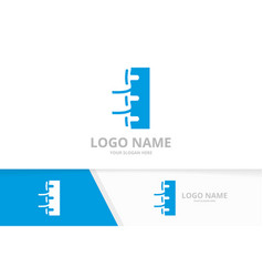 Chiropractic logo template design spinal vector