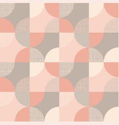 Circular geometric shapes seamless pattern vector
