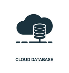 cloud database icon monochrome style design from vector image