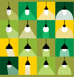 collection light bulb icons set vector image