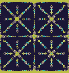 colorful seamless decorative ethnic pattern vector image