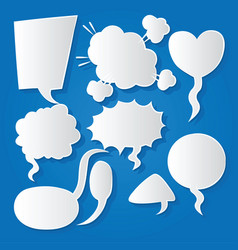 comic bubble speech balloons speech cartoon 164 vector image