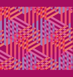 concept pink seamless geometry pattern vector image