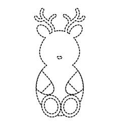 Cute and tender reindeer character vector