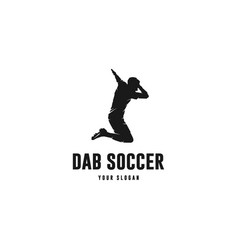 dab soccer vector image