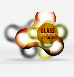 digital 3d space bubble glass and metallic vector image