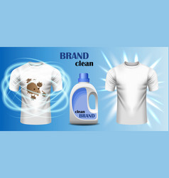 dirt cleaner brand concept banner realistic style vector image