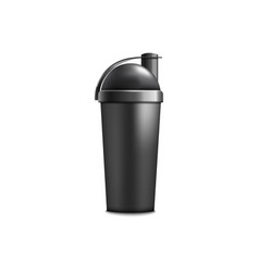 Drink shaker or sport protein container realistic vector