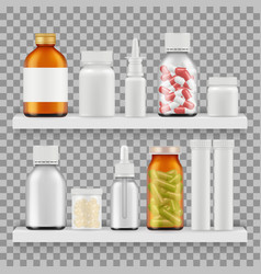 drugs medications packaging realistic vector image