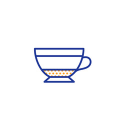 Dry cappuccino coffee icon hot drink sign vector
