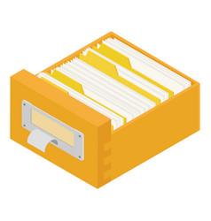 Filing cabinet drawer vector