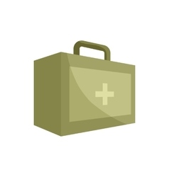 First aid kit icon cartoon style vector