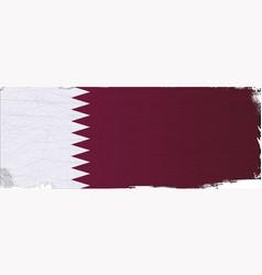 Flag of qatar grunge vector