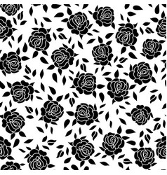 floral pattern flower rose ornamental background vector image