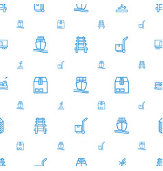 freight icons pattern seamless white background vector image
