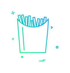 fries icon design vector image