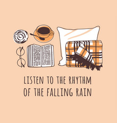 Funny quote about weather listen to the rhythm vector