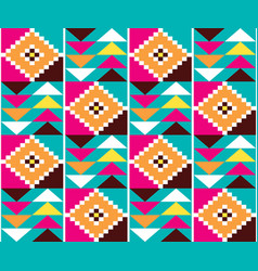 Geometric tribal kente seamless pattern vector