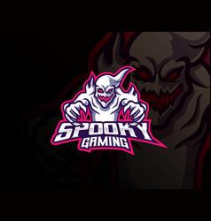 Ghost mascot sport logo design vector