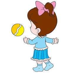 girl with a ball vector image