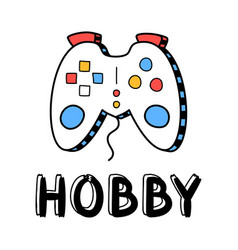 Hand draw gamepad icon in doodle style for your vector