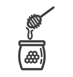 honey ladle line icon food and drink beehive vector image