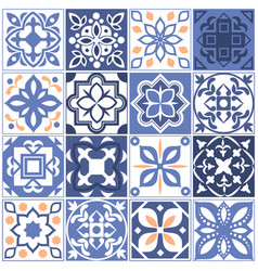 House mexican tiling seamless patterns spain vector