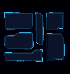 hud frames futuristic modern user interface vector image