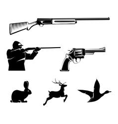 hunting elements for vintage labels vector image