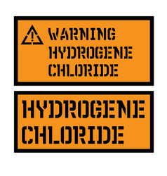 Hydrogene chloride sign vector