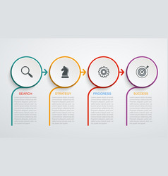 Infographic design template with 4 step structure vector